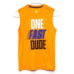 Starter Athletic Shirt Boys Sz Large 10/12 Orange